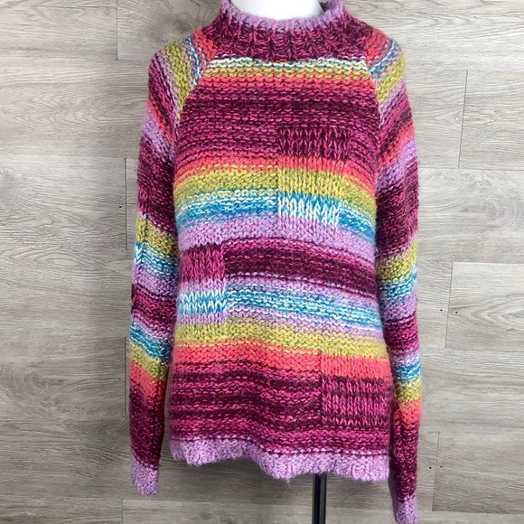 Relais Knitware Sweaters - Anthropologie Relaus Striped Sweater-Size L